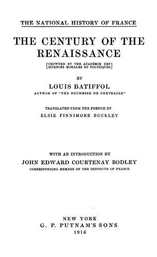 The century of the renaissance