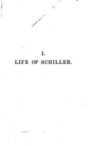 Download The Life of Friedrich Schiller: Comprehending an Examination of His Works