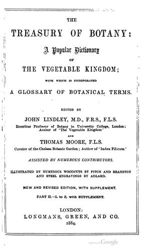 Download The treasury of botany