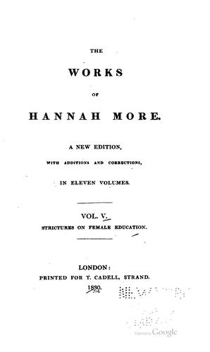 The works of Hannah More.