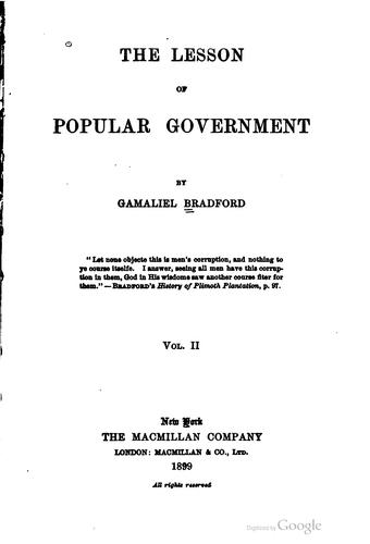 Download The lesson of popular government