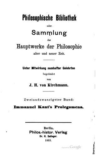 Immanuel Kant's Metaphysik der sitten.