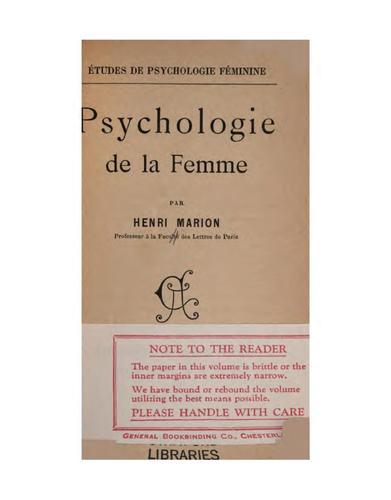 Download Psychologie de la femme