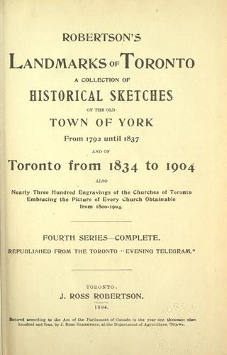 Download Robertson's landmarks of Toronto