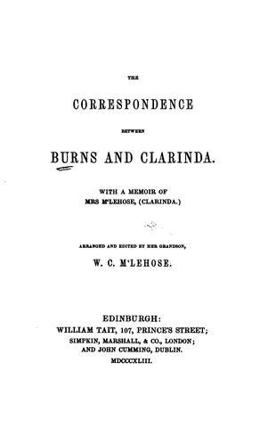 The correspondence between Burns and Clarinda.