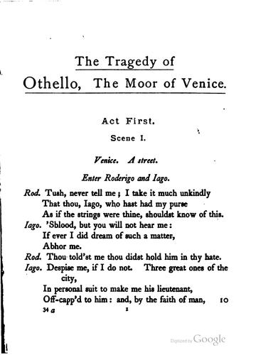 Download Shakespeare's tragedy of Othello