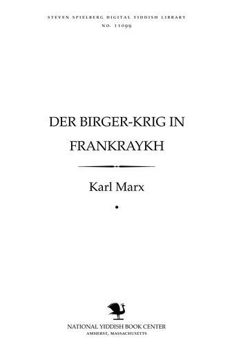 Der birger-ḳrig in Franḳraykh