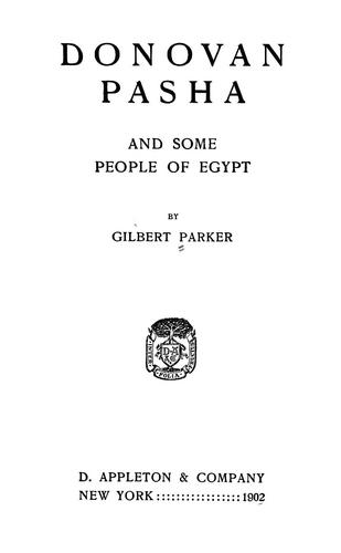 Download Donovan Pasha, and some people of Egypt