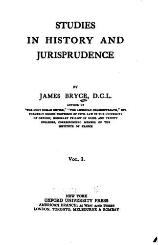 Download Studies in history and jurisprudence.