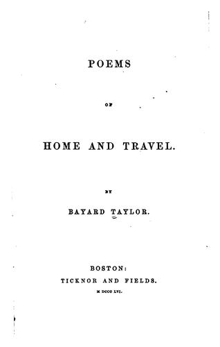 Download Poems of Home and Travel