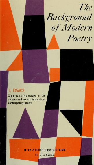 The background of modern poetry by Jacob Isaacs