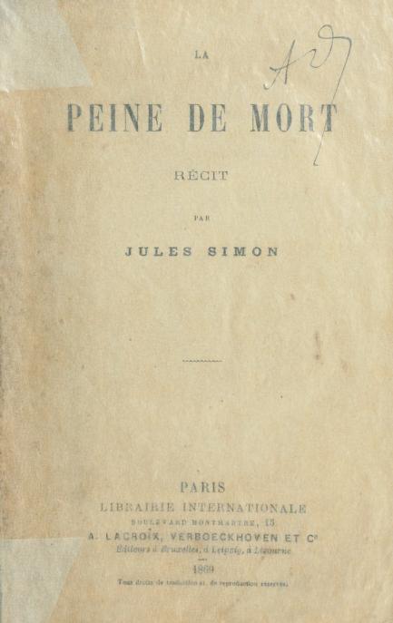 La peine de mort by Jules Simon