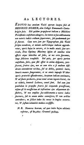 C. Cornelii Taciti opera omnia
