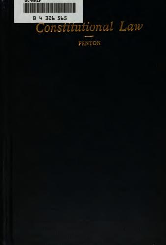 Constitutional law by Horace Jewell Fenton