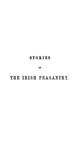Stories of the Irish peasantry by Samuel Carter Hall